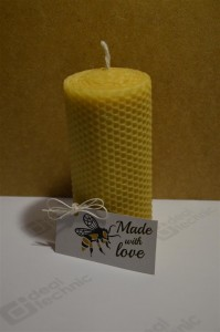Hand-Rolled Handmade Pure Beeswax Rolled Candles 13 cm x 6.5 cm (5.2in x 2.6in) Made With Love